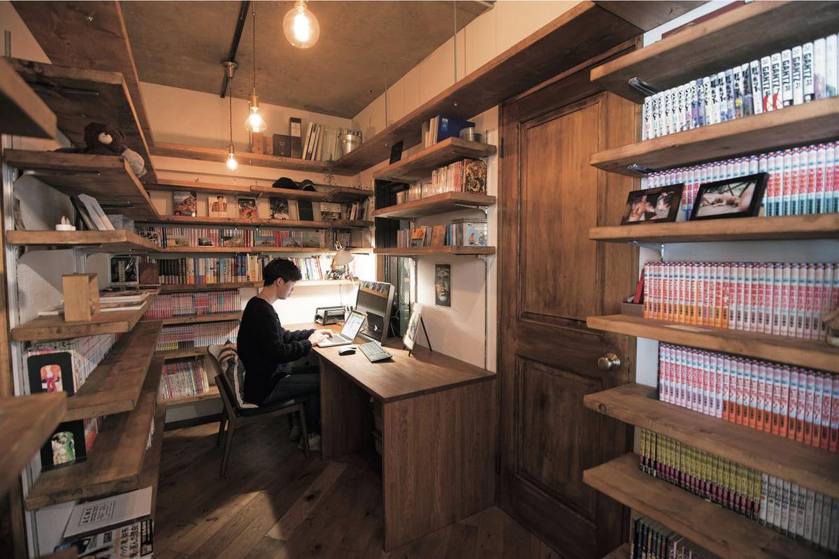 木の温もりに満ちた小さな図書館のような書斎〈東京都 M.J邸〉 小さな秘密基地の造り方のアイキャッチ