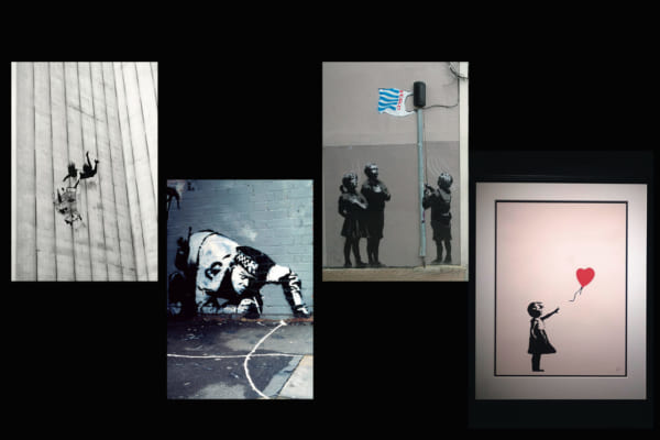 「経歴から辿るバンクシーの作品集~「風船と少女」や「レ・ミゼラブル」「ディズマランド」に込められた意味とは」のアイキャッチ画像