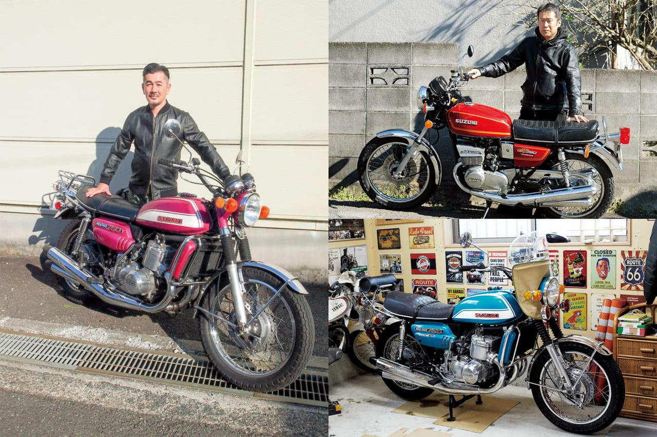SUZUKIの名車GT集合!男たちを魅了するヴィンテージバイク3選のアイキャッチ
