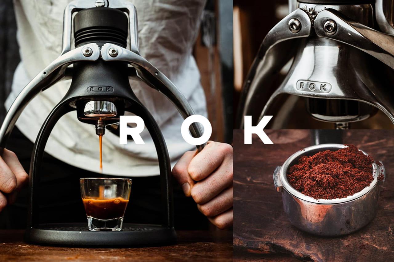 電源いらずキャンプで本格的なエスプレッソを!手動エスプレッソメーカー「ROK EspressoGC」がMakuakeで先行予約開始!のアイキャッチ