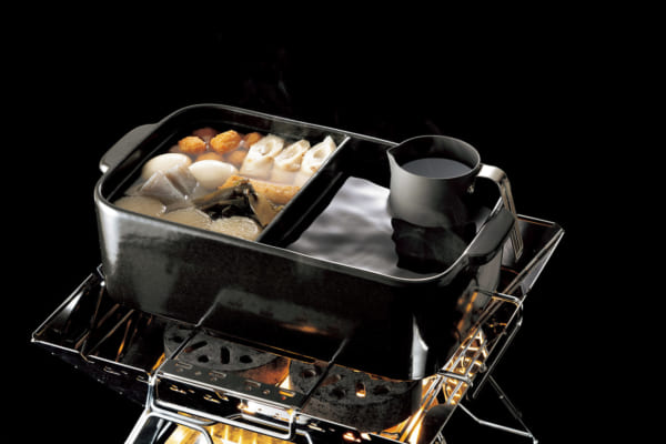 「同時調理が可能!「仕切おでん土鍋(蓋付)」|野外で愉しむための熱燗便利グッズ」のアイキャッチ画像