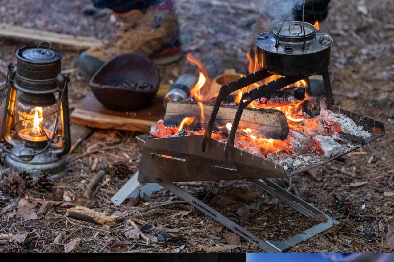 キャンプYouTube「タナちゃんねる」発、組み立て1秒の焚火台「KUBERU」が大人気! 見逃した人は急いで。「Makuake」先行予約販売は3月19日(金)までのアイキャッチ