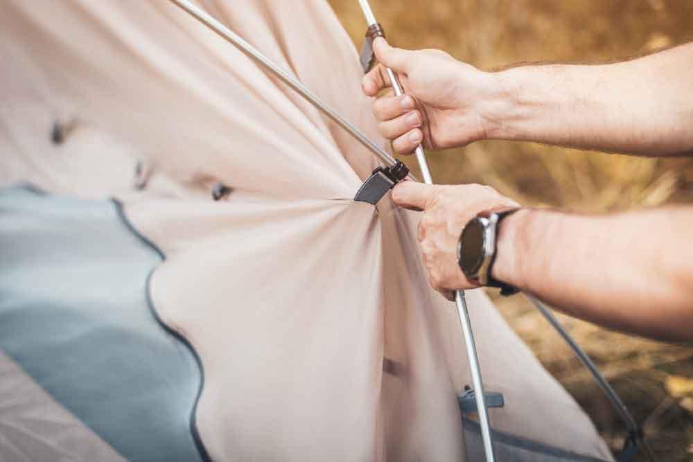 テント設営方法